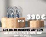 Lot de 10 inserts Acteon