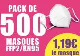Pack de 500 masques FFP2/KN95