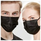 Masques chirurgicaux noirs - Elastiques noirs